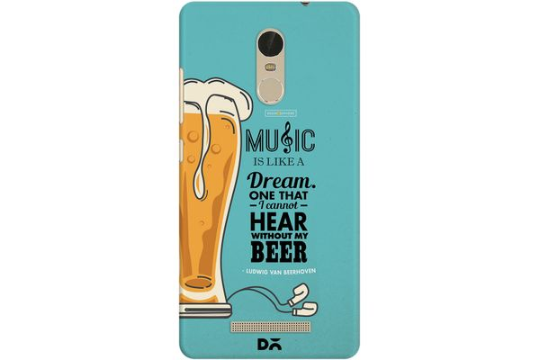 No Beer No Hear Case For Xiaomi Redmi Note 3
