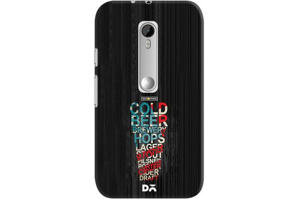 Red White & Beer Case For Motorola Moto G3