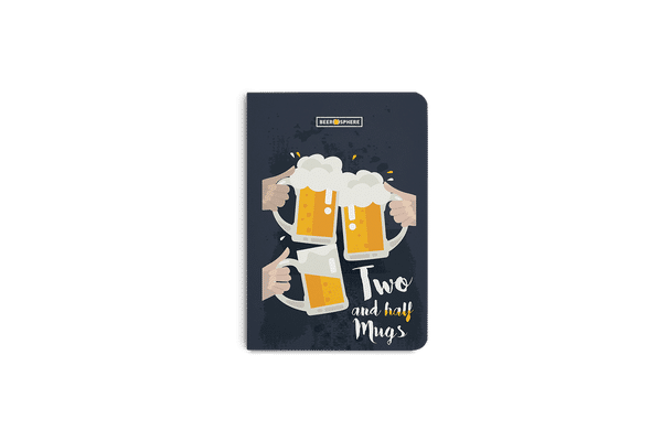 Beer 2.5 Mugs Clink A5 Notebook Plain