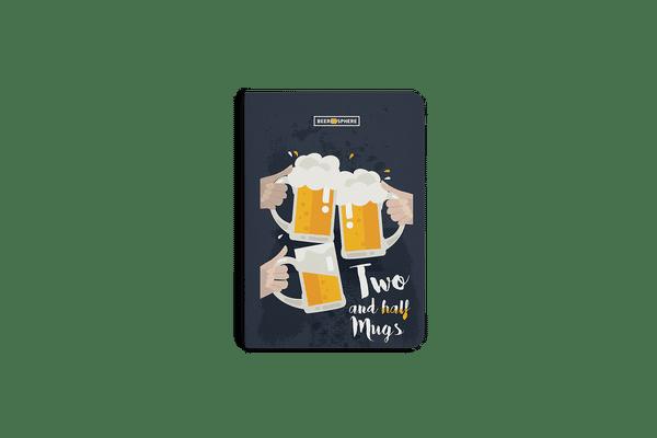Beer 2.5 Mugs Clink A6 Notebook Plain