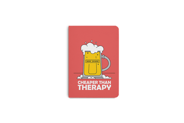 Beer Cheap Therapy A6 Notebook Plain