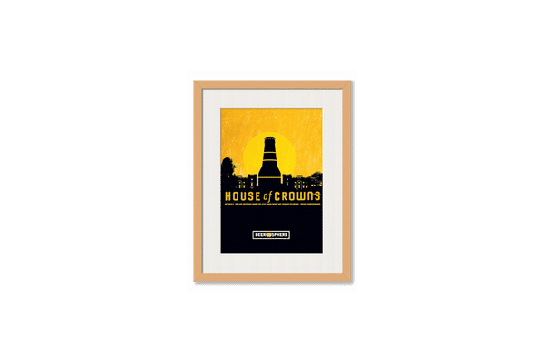 Beer HoC Framed Wall Art With Border Pine