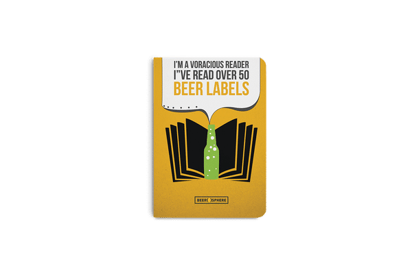 Beer Labels A6 Notebook Plain