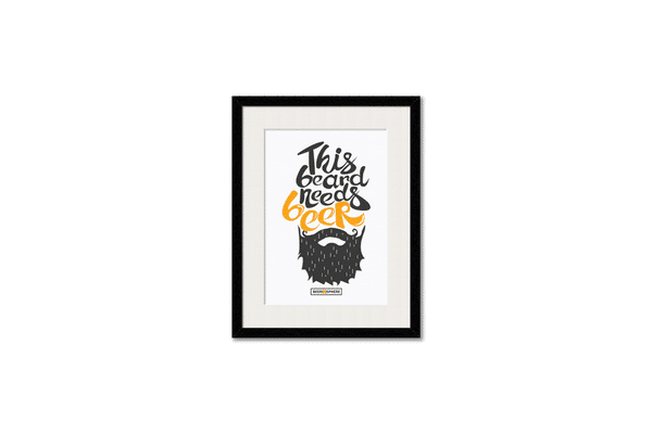 Beer Shampoo Framed Wall Art With Border Black