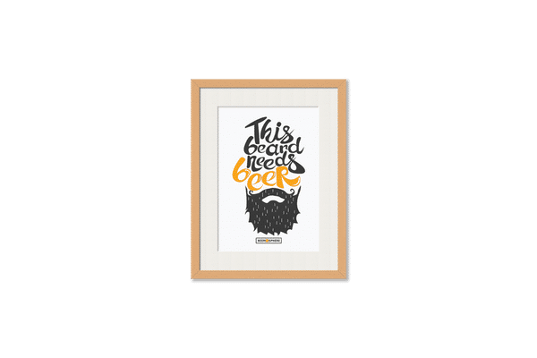 Beer Shampoo Framed Wall Art With Border Pine