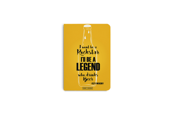Legends of Beer A5 Notebook Plain
