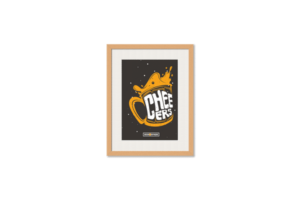Life is BREWtiful Framed Wall Art With Border Pine