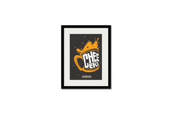 Life is BREWtiful Framed Wall Art With Border White