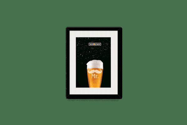 Mr. Beer Galaxy Framed Wall Art With Border Black