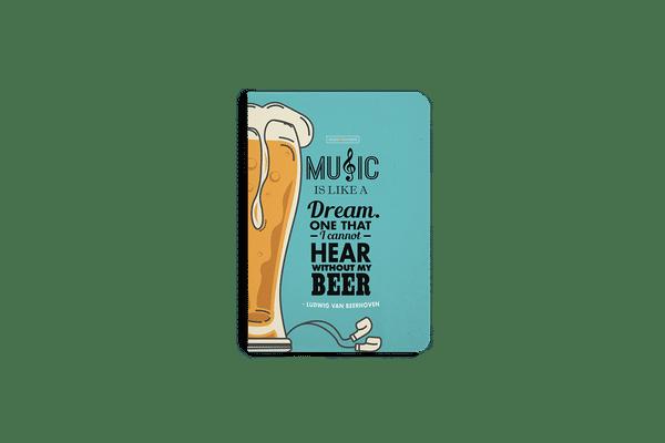 No Beer No Hear A5 Notebook Plain
