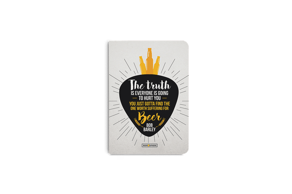 Truth Is Beer A5 Notebook Plain
