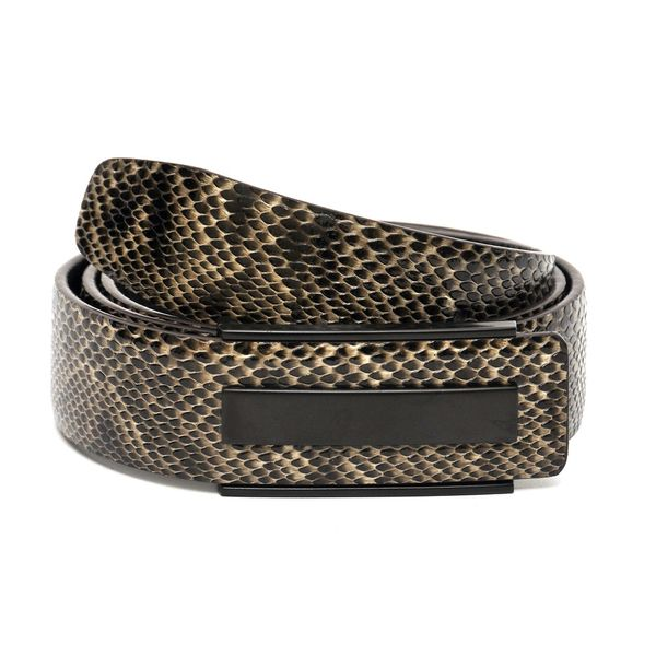 HIDEMARK SNAKE PRINT LEATHER BELT