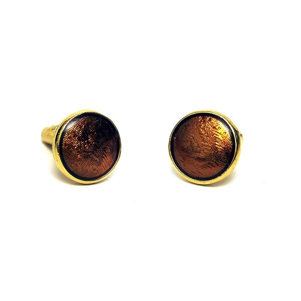 METALLIC INLAY CUFFLINKS