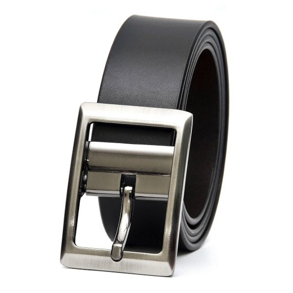 HIDEMARK BLACK-BROWN REVERSIBLE LEATHER BELT