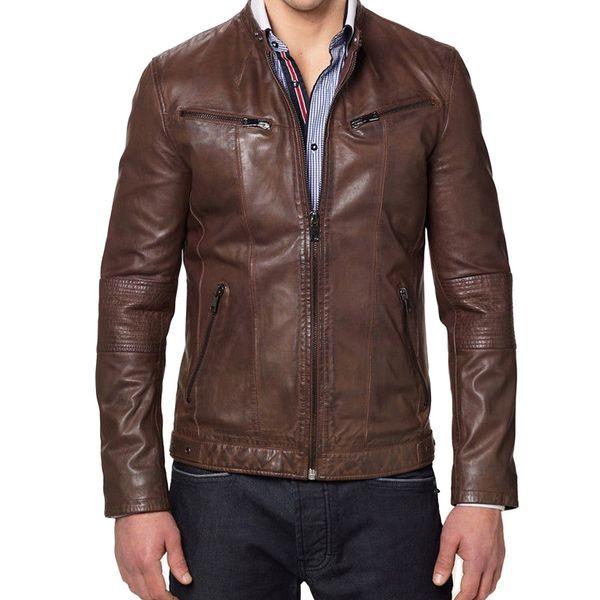 Buy Designer Brown Leather Jackets For Men Online In India