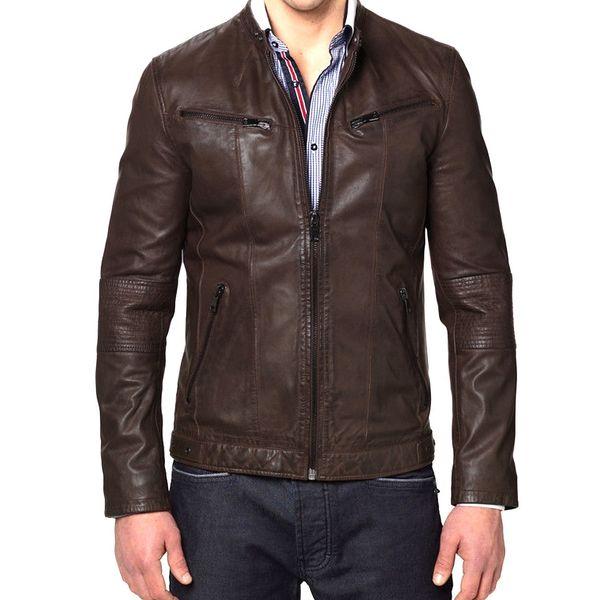 designer mens brown leather jackets
