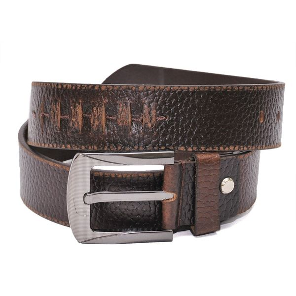 TRENDY BROWN CASUAL LEATHER BELT