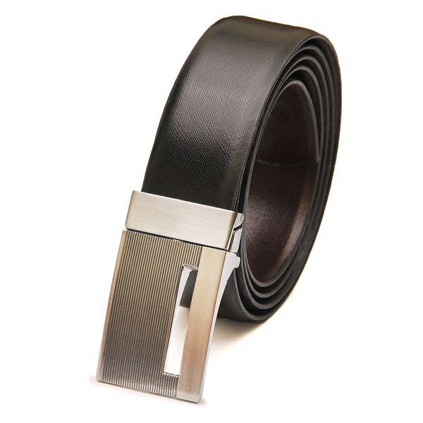 HideMark Black Formal Leather Belt