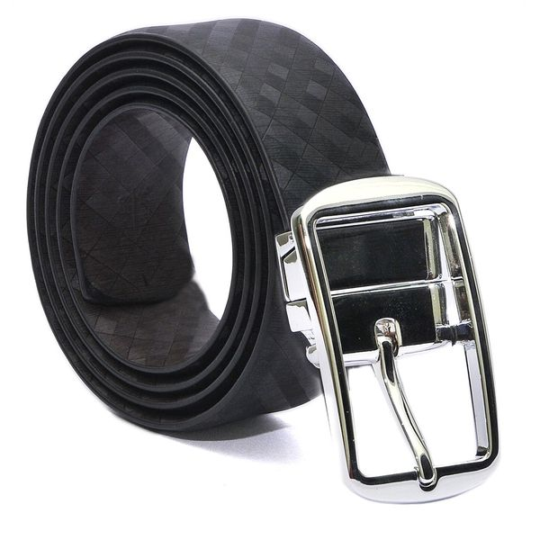 HIDEMARK FORMAL REVERSIBLE MENS LEATHER BELT WITH TURNING BUCKLE