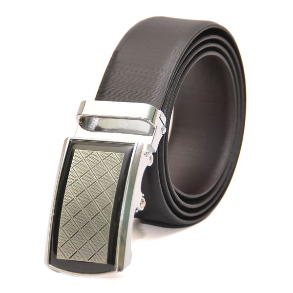 HIDEMARK BUSINESS REVERSIBLE LEATHER BELT WITH EXQUISITE AUTO LOCK BUCKLE