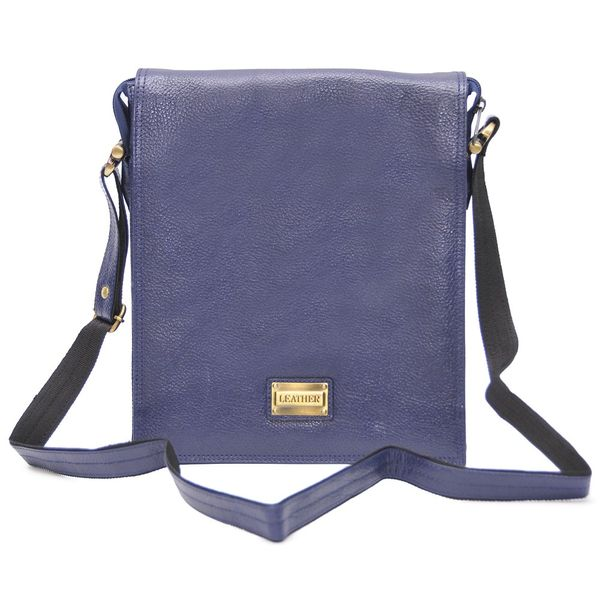 STYLISH BLUE LEATHER SLING BAG