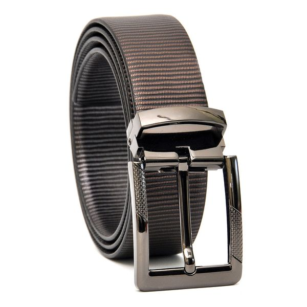 HIDEMARK METALLIC ITALIAN LEATHER BELT  WITH DESIGNER BUCKLE