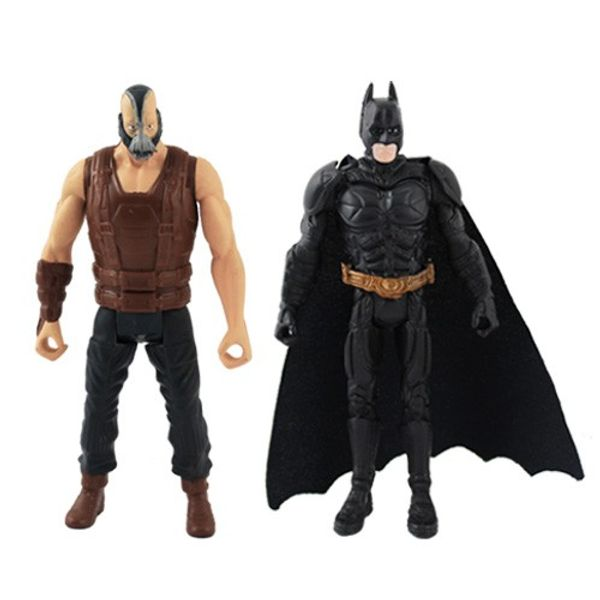 The Dark Knight Rises ARKHAM CITY Batman & Bane Movable Action Figure Set
