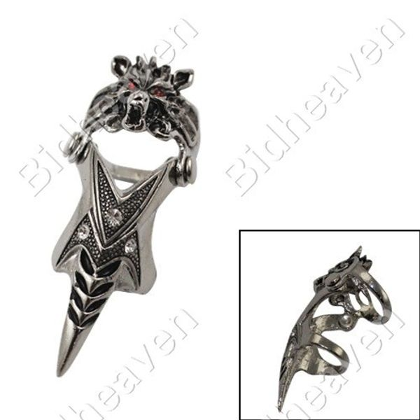 Final Fantasy Wolf Head Finger Ring