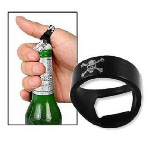 Novelty Finger Ring Skull Style Bottle Crown Opener
