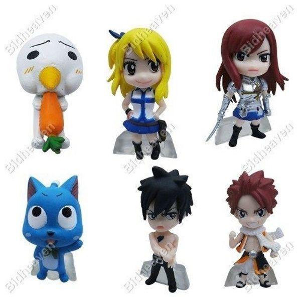 Fairy Tail Mini Action Figure Natsu Lucy Erza Gray Happy