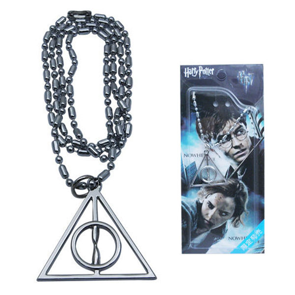 Harry Potter and the Deathly Hallows Logo Metal Necklace