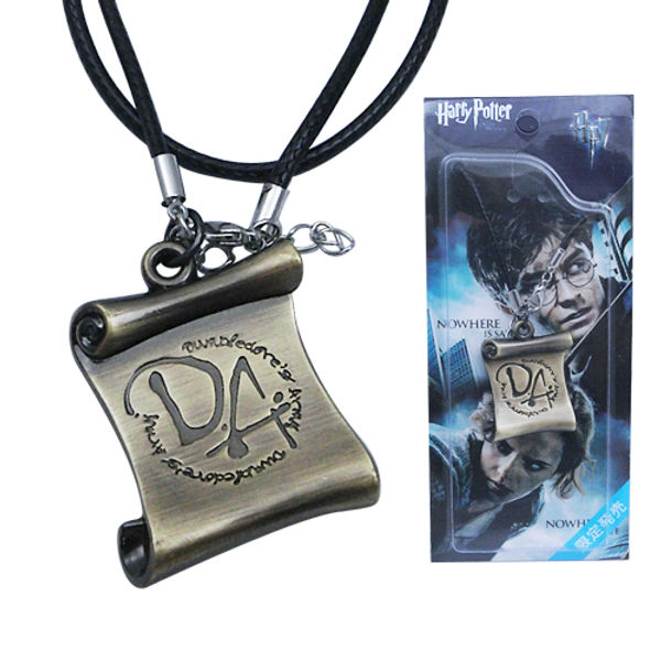 Harry Potter Dumbledore Army DA Logo Metal Necklace