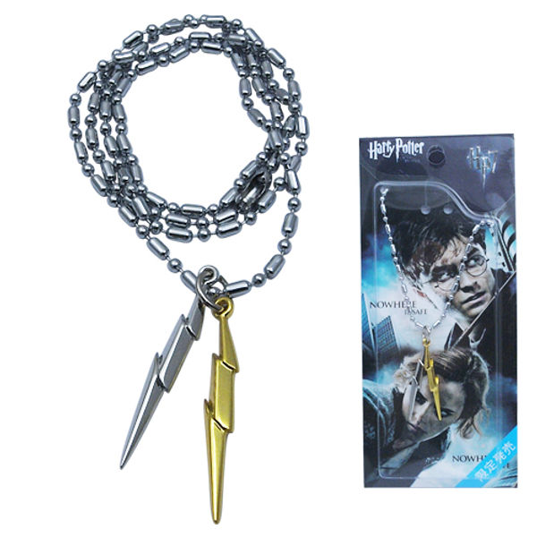Harry Potter Head Scar Logo Metal Necklace Golden & Silver