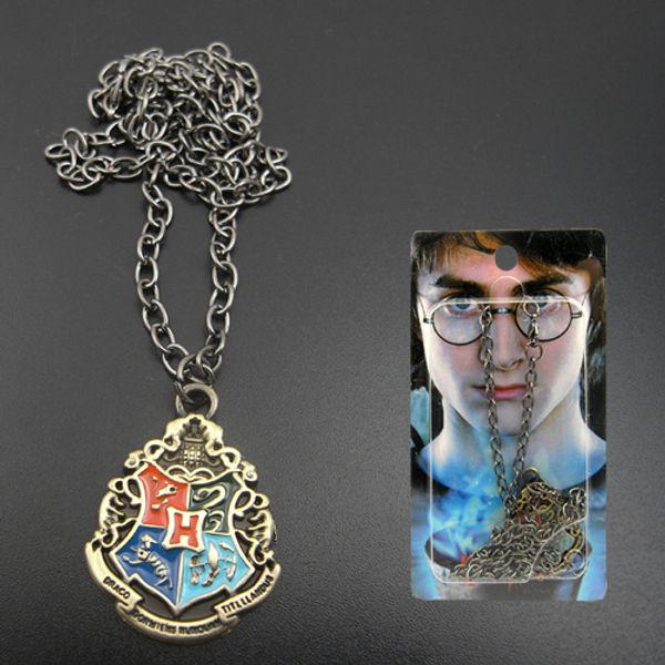 Harry Potter Hogwarts Metal Necklace