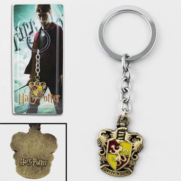 Harry Potter Gryffindor Logo Metal Key Ring Chain Keychain