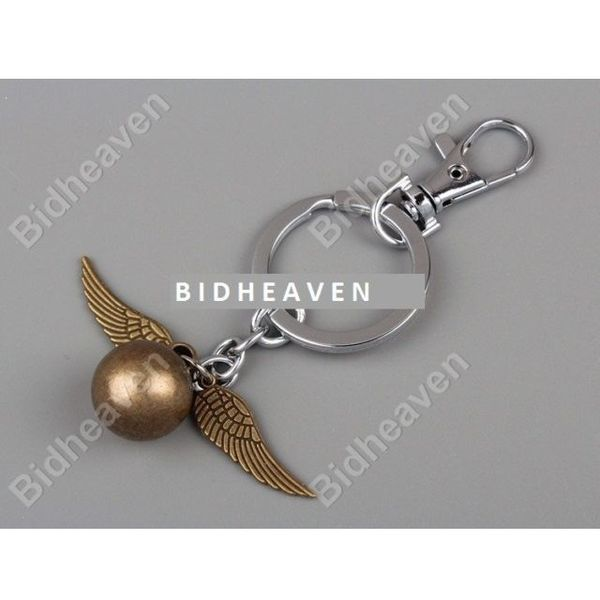 Harry Potter Quidditch Golden Snitch Wing Key Ring Chain Keychain