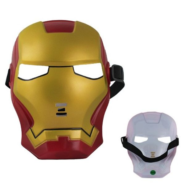 Iron Man Plastic Camouflage Face Mask for Cosplay Party