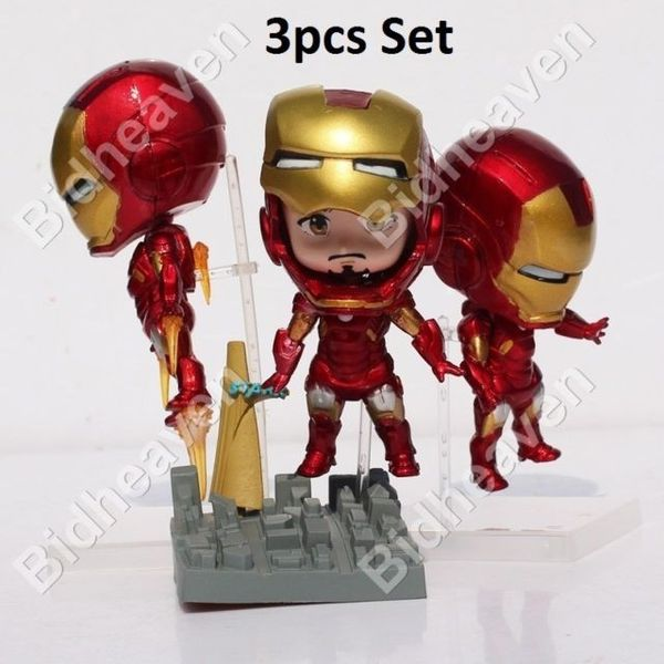 Iron Man Avengers Mark 7 Tony Stark 3 pcs Set Action Figure Toy