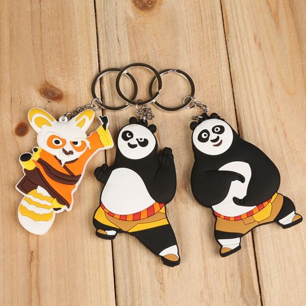 Kung Fu Panda 3 Po and Master Shifu PVC Figure Key Chains Ring Keychain Keyring - 3 Pcs Set