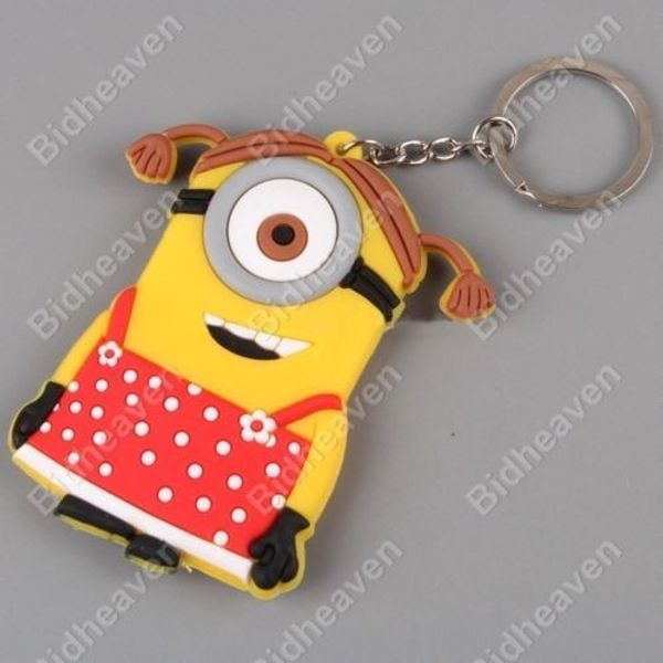 Despicable Me Minion Maid PVC Figure Keychain Red