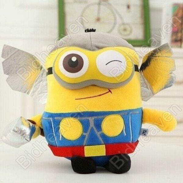 Despicable Me Cosplay Minions Bob Dave Thor Plush Doll