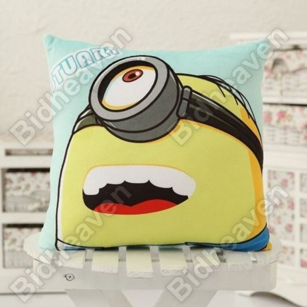 Despicable Me Minion Stuart Soft Plush Cushion Pillow for Car Sofa