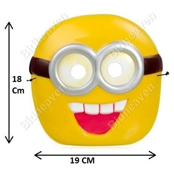Despicable Me Minion Jorge Plastic PVC Camouflage Face Mask for Cosplay Party