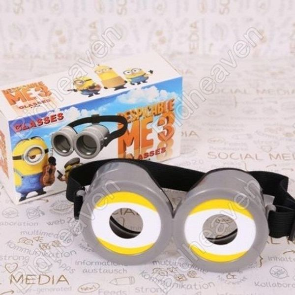 Despicable Me Minion 3D Glasses Goggles for Childreen Adult Cosplay
