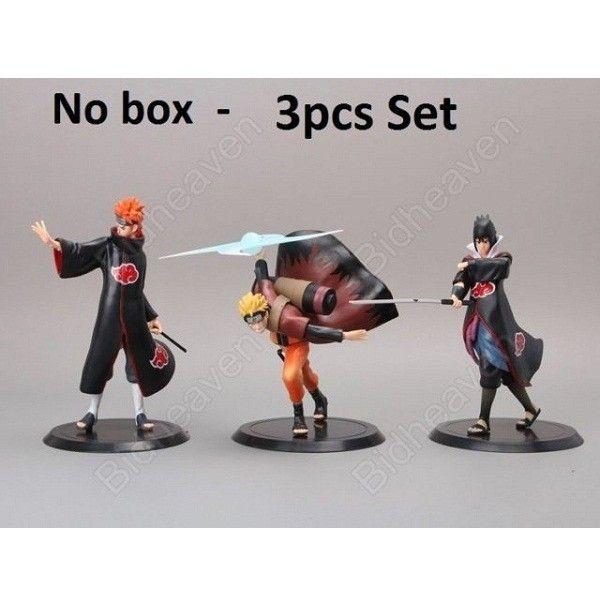 Naruto Shippuden Naruto Uzumaki Nagato Pain Sasuke Uchiha  Action Figure - 3 Pcs Set