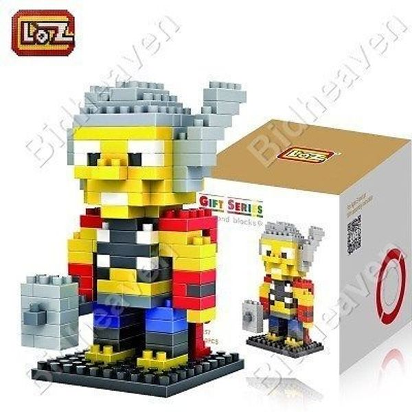 Thor Figure Mini Nano Micro Building DIY Block Brick - Loz