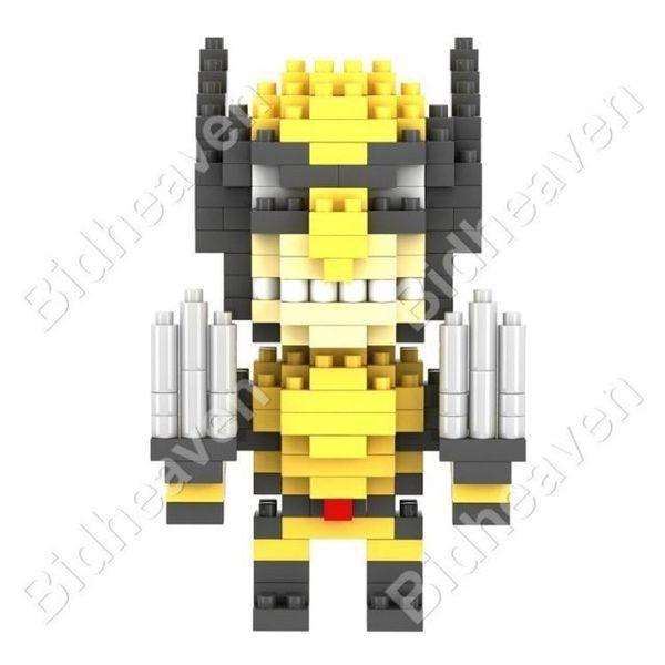 X-Men Wolverine Figure Mini Nano Micro Building DIY Block Brick - Loz