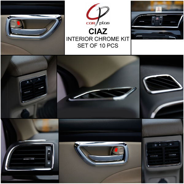 Home » KMH Interior Kit for Ciaz (Set of 10 Pcs) (Chrome)