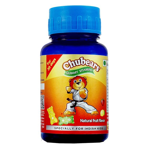 Chubears - Chewable Gummy MultiVitamins for  kids with 400 IU of Vit D