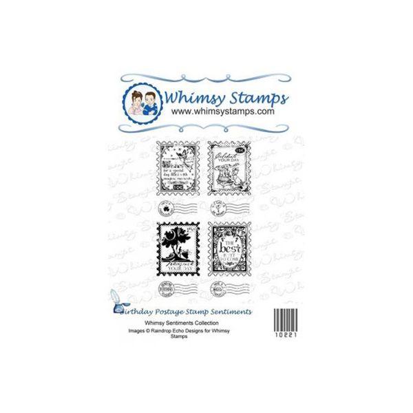 Birthday Postage Stamp Sentiments